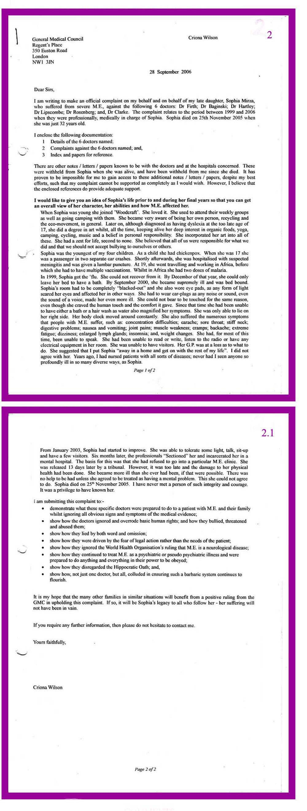 How to write a letter of complaint to a hospital choice image legal 2 28 09 2006 covering letter to gmc re complaint overview expocarfo choice image thecheapjerseys Gallery